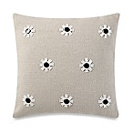 kate spade new york Flower Applique Throw Pillow in Flax