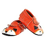 Itzy Ritzy® Moc Happens™ Little Fox Size 6-12M Leather Baby Moccasin Shoe in Orange