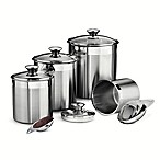 Tramontina® Gourmet 8-Piece Stainless Steel Covered Canister and Scoop Set