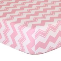 The Peanut Shell® Chevron Fitted Crib Sheet in Pink