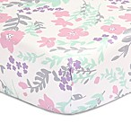 The Peanut Shell® Floral Fitted Crib Sheet in Pink