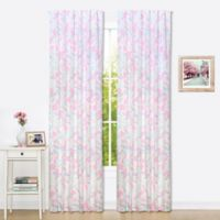 The Peanut Shell® Floral Window Panel Pair in Pink