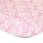 The Peanut Shell® Damask Fitted Crib Sheet in Pink