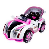 Lil Rider Battery-Operated Sports Car with Electric Canopy in Pink