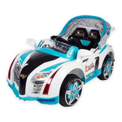 Lil Rider Battery-Operated Sports Car with Electric Canopy in Blue
