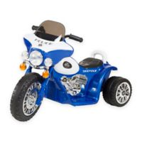 Lil Rider Mini Battery-Operated Three-Wheel Police Chopper in Blue