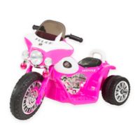 Lil Rider Mini Battery-Operated Three-Wheel Police Chopper in Pink