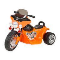 Lil Rider Mini Battery-Operated Three-Wheel Police Chopper in Orange