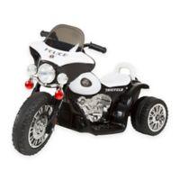 Lil Rider Mini Battery-Operated Three-Wheel Police Chopper in Black
