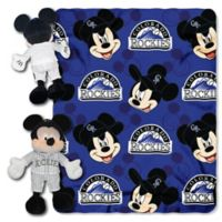 MLB Colorado Rockies & Mickey Hugger and Throw Blanket Set by The Northwest