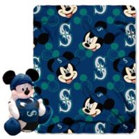 MLB Seattle Mariners & Mickey Hugger and Throw Blanket Set by The Northwest