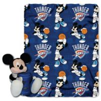 NBA Oklahoma City Thunder & Mickey Hugger and Throw Blanket Set by The Northwest