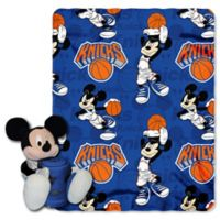 NBA New York Knicks & Mickey Hugger and Throw Blanket Set by The Northwest