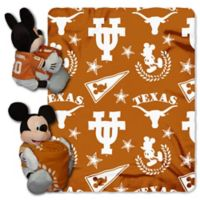 NCAA University of Texas & Mickey Hugger and Throw Blanket Set by The Northwest