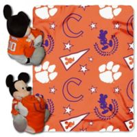 NCAA Clemson University & Mickey Hugger and Throw Blanket Set by The Northwest