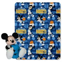 NBA Denver Nuggets & Mickey Hugger and Throw Blanket Set by The Northwest