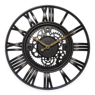 Infinity Instruments Roman Gear Rustic Iron Clock