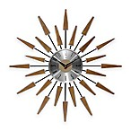 Infinity Instruments Mid-Century Modern Vintage Wall Clock