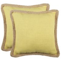 Safavieh Sweet Sorona Throw Pillows in Yellow (Set of 2)