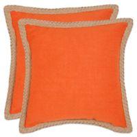 Safavieh Sweet Sorona Throw Pillows in Orange (Set of 2)