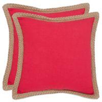 Safavieh Sweet Sorona Throw Pillows in Red (Set of 2)