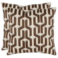 Safavieh Texola 18-Inch Throw Pillows in Olive (Set of 2)