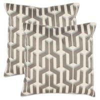 Safavieh Texola 18-Inch Throw Pillows in Silver/Blue (Set of 2)