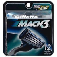 Gillette MACH3 Men's Razor Blade Refills 12 Count