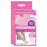 Spongeables™ Pedi-Scrub™ 2 oz. Foot Buffer with Lavender-Tea Tree Oil Aromatherapy