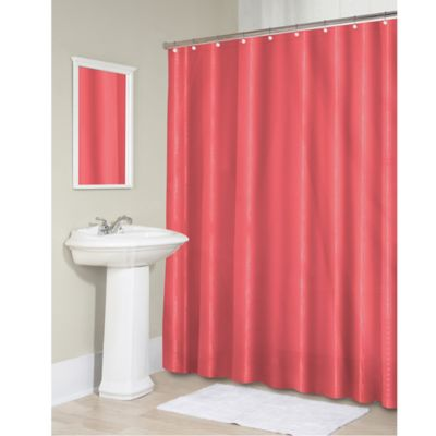 Vinyl 70 Inch X 71 Shower Curtain Liner In Coral