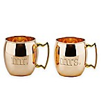 Old Dutch International 16 oz.  Mr.  &  Mrs.  Solid Copper Moscow Mule Mugs (Set of 2)