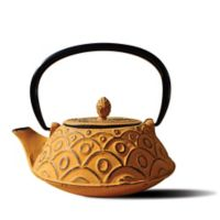 Old Dutch International Kyoto Teapot in Tangerine