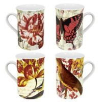 Konitz Botanical Postcard Mugs (Set of 4)