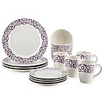 Rachael Ray™ Scroll 16-Piece Dinnerware Set