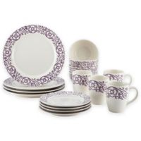 Rachael Ray™ Scroll 16-Piece Dinnerware Set