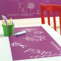 Wallies Peel & Stick Chalkboard Wall Decals in Purple (Set of 4)