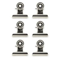 Metal Magnetic Clips 6pck in Silver