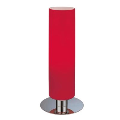 Buy red lamp shades from bed bath beyond george kovacs cylinder accent table lamp in chrome with glossy red glass shade aloadofball Choice Image
