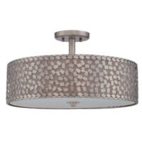 Quoizel Confetti Extra Large Semi-Flush Mount Ceiling Light Fixture in Old Silver