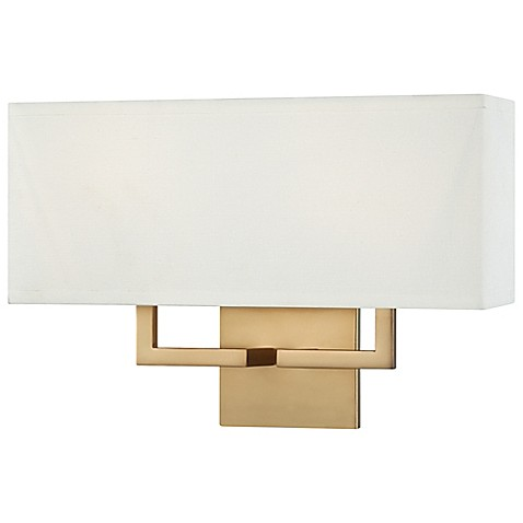 George Kovacs? 2-Light Wall Sconce in Honey Gold with Fabric Shade - Bed Bath & Beyond