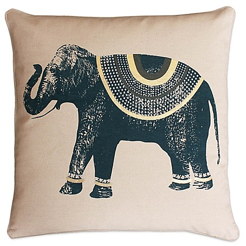 Elephant Throw Pillow Bed Bath And Beyond : Thro Ezra Elephant Square Throw Pillow - Bed Bath & Beyond