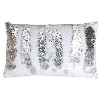 Ideal Buy Silver Sequin Pillow from Bed Bath & Beyond SD66