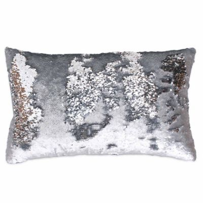 thro by marlo lorenz melody mermaid reversible sequin 12inch x 20inch pillow
