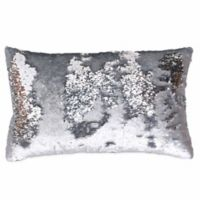 Thro by Marlo Lorenz Melody Mermaid Reversible Sequin 12-Inch x 20-Inch Pillow in Silver Silver