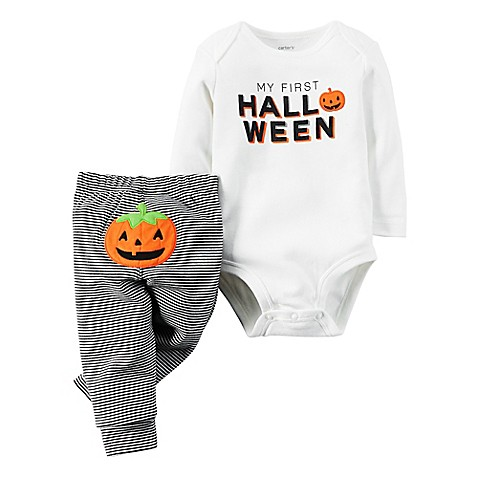 Carter S 174 2 Piece Quot My First Halloween Quot Bodysuit And Pant