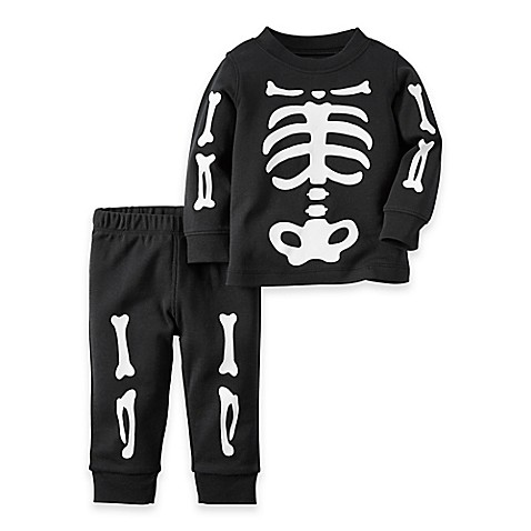Carter S 174 2 Piece Skeleton Pajama In Black Buybuy Baby