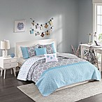 Intelligent Design Clara Full/Queen Coverlet Set in Blue