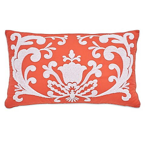 Bed Bath And Beyond Orange Throw Pillows : Dena Home Santana Oblong Throw Pillow in Orange - Bed Bath & Beyond