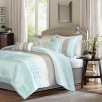 Madison Park Amherst King/California King Duvet Cover Set in Aqua