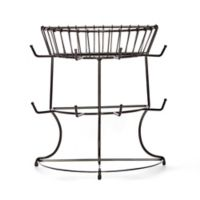 Gourmet Basics by Mikasa Mug Rack Tree Stand with Basket